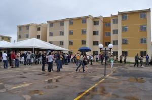 Entrega apartamentos no Ganchinho (foto G1Sul)